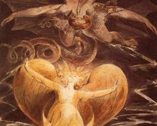 Большой красный дракон и женщина, одетая в солнце — Уильям Блейк