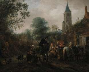The Halt at the Inn — Исаак ван Остаде
