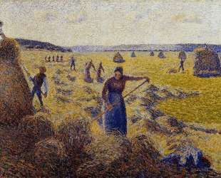 The Harvest of Hay in Eragny — Камиль Писсарро