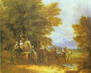 The Harvest Wagon — Томас Гейнсборо