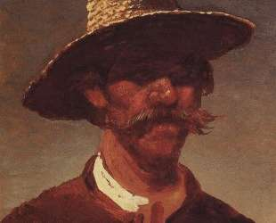 Голова крестьянина-украинца в соломенной шляпе — Архип Куинджи