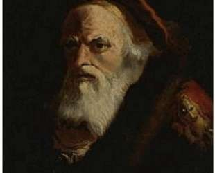 The head of an old man, inscribed Diogenes — Джованни Доменико Тьеполо