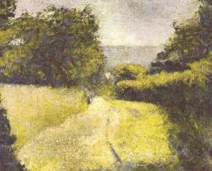 Пустая дорога — Жорж Сёра