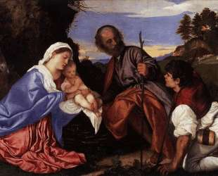 The Holy Family with a Shepherd — Тициан