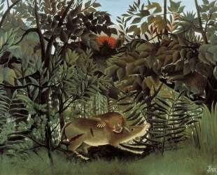 The Hungry Lion Throws Itself on the Antelope — Анри Руссо