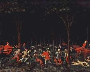 Охота в лесу — Паоло Уччелло