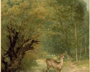 Загнаный олень. Весна — Гюстав Курбе