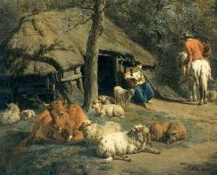 The Hut (detail) — Адриан ван де Вельде