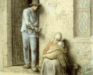 Больной ребенок — Жан-Франсуа Милле