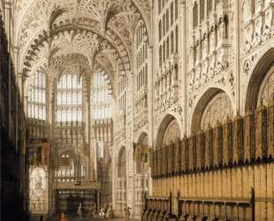 The Interior of Henry VII Chapel in Westminster Abbey — Каналетто