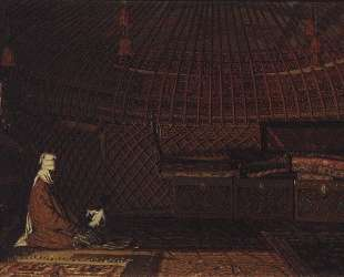 The interior of the yurt of rich Kirghiz — Василий Верещагин