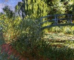 Японский мостик (Пруд с водяными лилиями и тропинка у воды) — Клод Моне