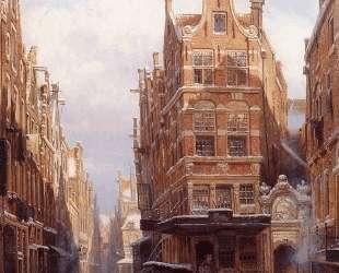 The Jewish quarter in Amsterdam — Корнелис Спрингер