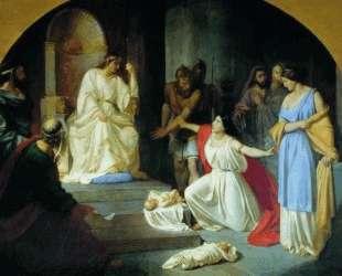 Суд царя Соломона — Николай Ге