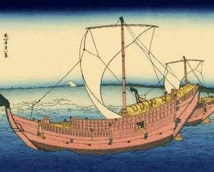 The Kazusa sea route — Кацусика Хокусай