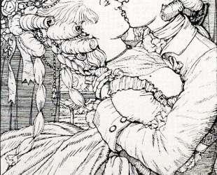 Поцелуй. Иллюстрация к Книге маркизы — Константин Сомов
