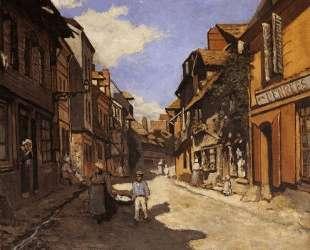 Рю Баволь в Онфлёре — Клод Моне