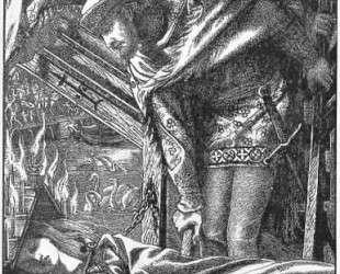 The Lady of Shalott (Moxon Tennyson) — Данте Габриэль Россетти