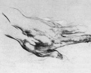 The left artist's hand — Михаил Врубель