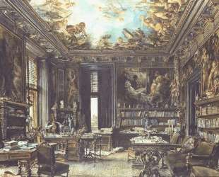 The library in the Palais Dumba — Рудольф фон Альт
