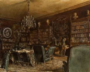 The Library of the Palais Lanckoronski, Vienna — Рудольф фон Альт
