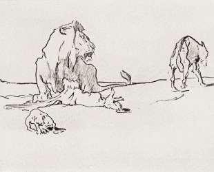 Лев и волк — Валентин Серов