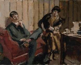 The Little Tea Party Nina Hamnett and Roald Kristian — Уолтер Сикерт