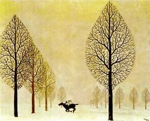 The lost jockey — Рене Магритт