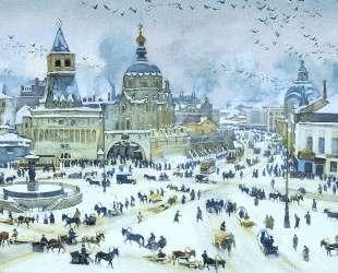 The Lubyanskaya Square in Winter — Константин Юон