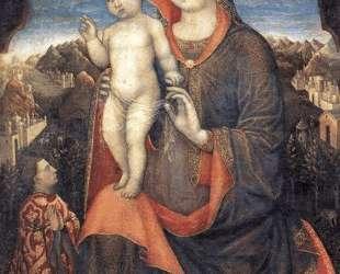 Мадонна с младенцем и преклоняющимся Леонелло д'Эсте — Якопо Беллини