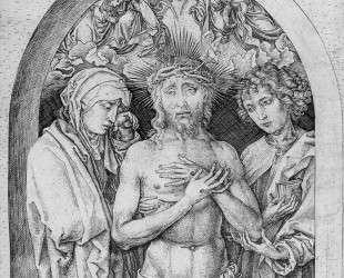 The Man of Sorrows with the Virgin Mary and St. John the Evangelist — Мартин Шонгауэр