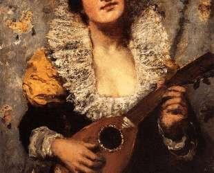Игра на мандолине — Мэри Кассат