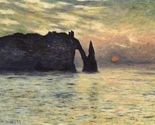 Маннпорт, скала в Этрета, закат — Клод Моне