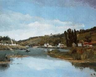 The Marne at Chennevieres — Камиль Писсарро