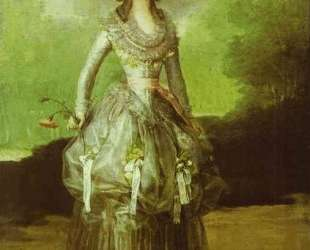 The Marquesa de Pontejos — Франсиско де Гойя