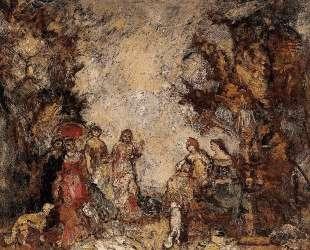 The Meeting of the Elegant Ladies — Адольф Жозеф Тома Монтичелли
