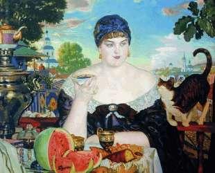Купчиха за чаем — Борис Кустодиев