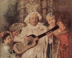 The Mezzetin's Family — Антуан Ватто