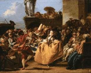 The Minuet or Carnival Scene — Джованни Доменико Тьеполо