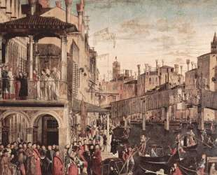 The Miracle of the Relic of the True Cross on the Rialto Bridge — Витторе Карпаччо