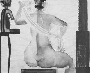 Натурщица перед зеркалом — Александр Дейнека