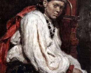 Натурщица в старинном русском костюме — Василий Суриков