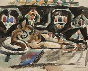 Натурщица на ковре — Пётр Кончаловский