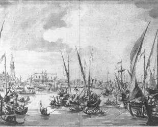 The Molo and the Riva degli Schiavoni from the Bacino di San Marco — Франческо Гварди