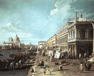 The Molo with the Library and the Entrance to the Grand Canal — Каналетто