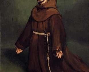 The monk at prayer — Эдуард Мане