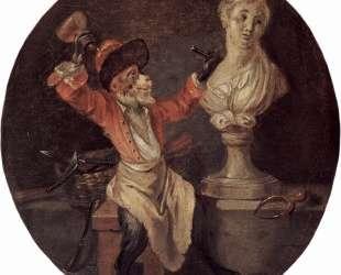 The Monkey Sculptor — Антуан Ватто