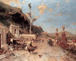 The Monreale Road, Palermo — Франц Рихард Унтербергер