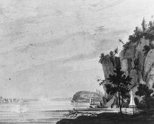 The Monument to Alexander Hamilton at Weehawken — Павел Свиньин