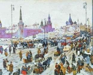 The Moskvoretsky Bridge — Константин Юон